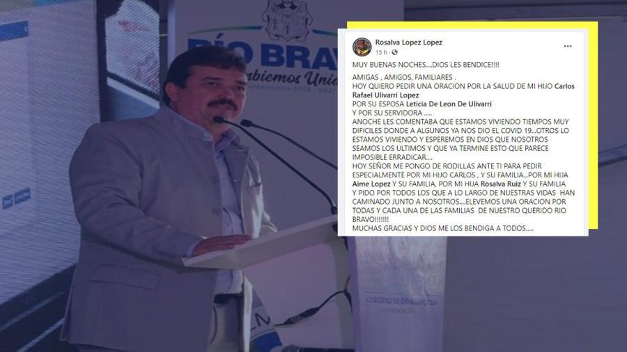 Alcalde de Río Bravo da positivo a COVID-19