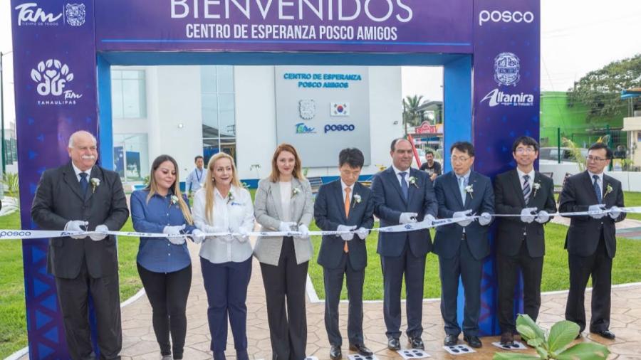 Mariana Gómez inaugura Centro de Esperanza POSCO Amigos, para las familias del sur de Tamaulipas