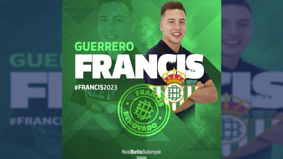 Francis Guerrero renueva su contrato con el Real Betis