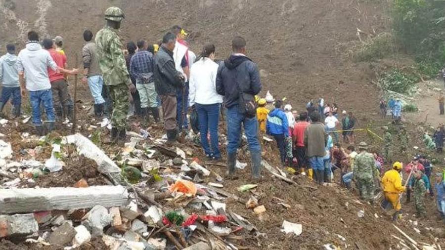 14 muertos tras deslave en Colombia