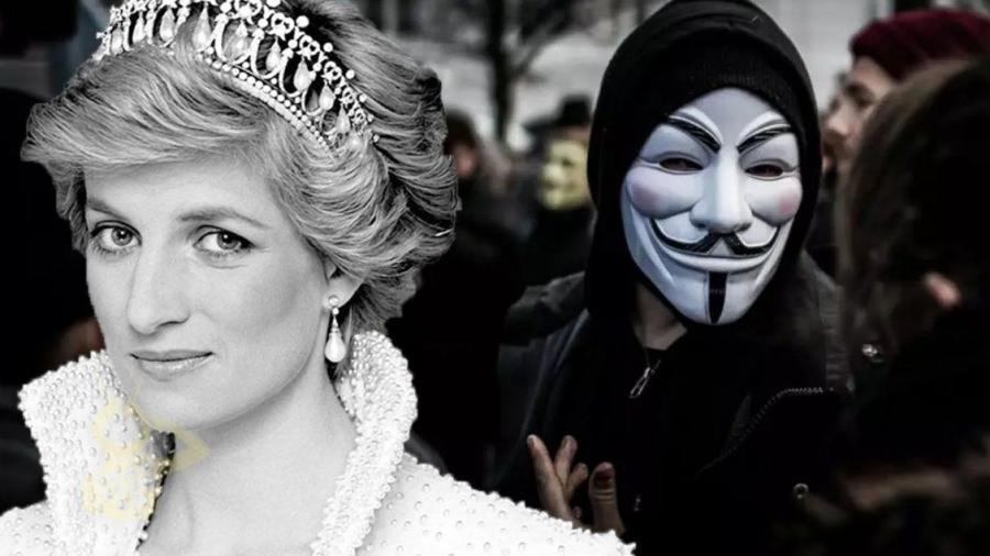 Lady Di fue asesinada por tener información que relacionaba a la casa real una red de tráfico sexual de menores: con Anonymous