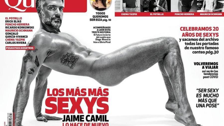 Jaime Camil recrea portada de revista donde se desnudó hace 16 años