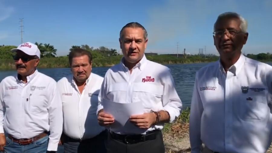 Muestra alcalde avance en laguna de Los Patos