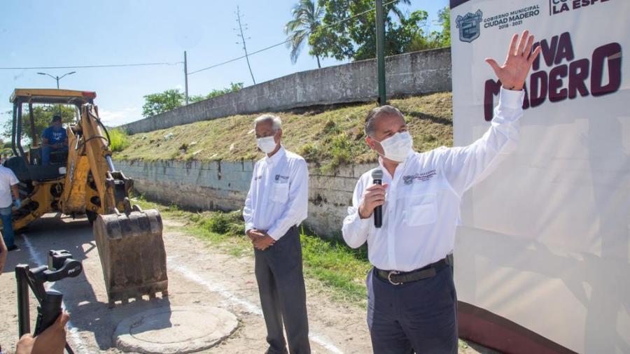 Dan arranque a obra hidrosanitaria en Ciudad Madero