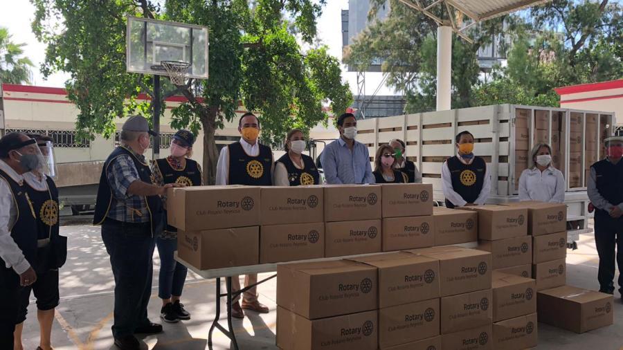 Voluntariado Juvenil del DIF y Club Rotario entregan más de 4 mil despensas