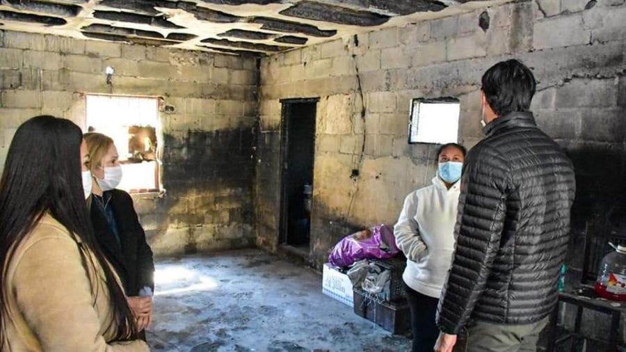 Atiende DIF Reynosa a familia afectada por incendio