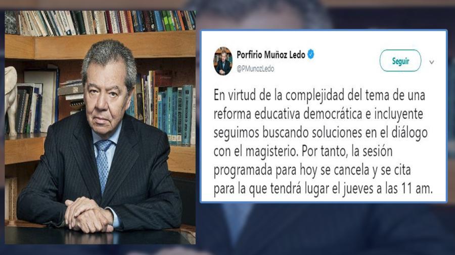 Suspenden análisis del dictamen de la reforma educativa