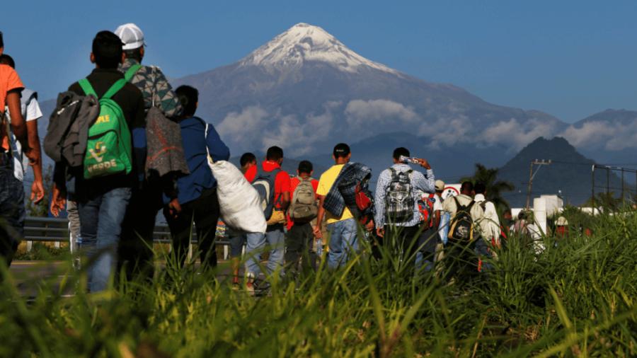 Caravana migrante llega en un 50% a la CDMX