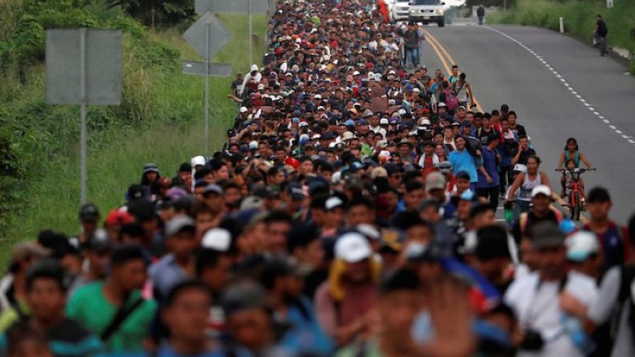Caravana migrante en CDMX, a la espera de reunión con AMLO