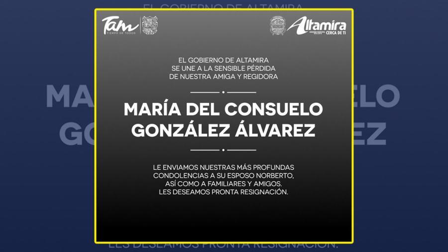 Fallece regidorade Altamira