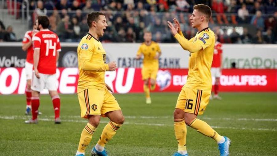 Bélgica golea 4-1 a domicilio a Rusia
