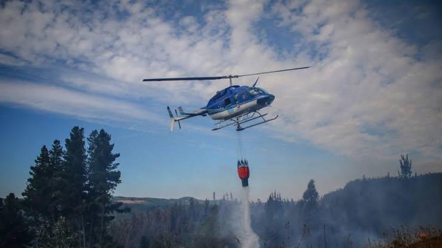 Reportan 40 incendios activos en Chile