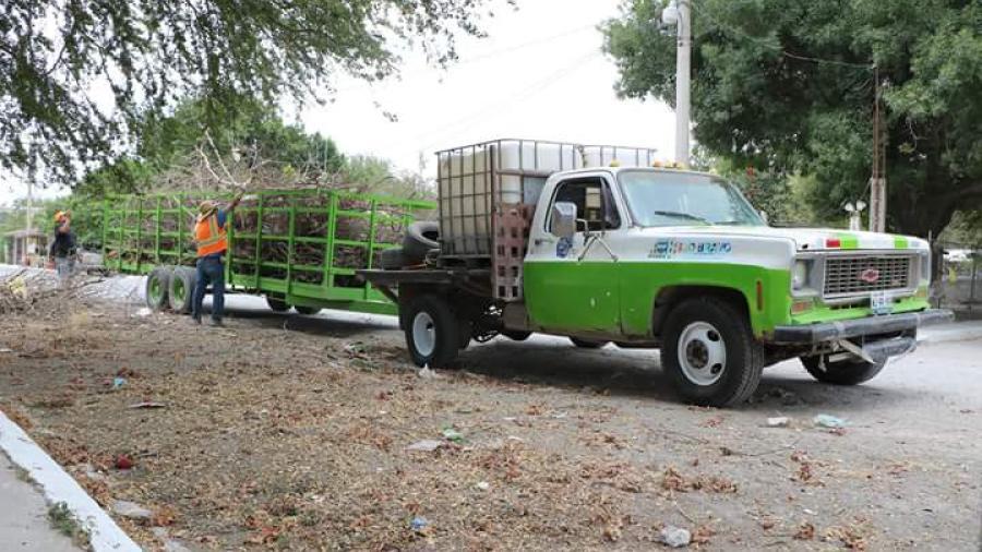 Realizan trabajos en calles de la Villa de Nuevo Progreso