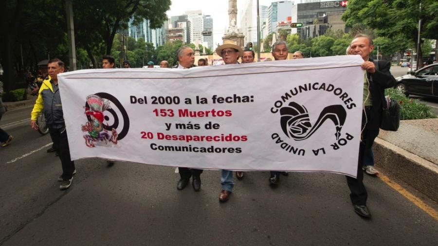 Marchan contra violencia a periodistas en CDMX