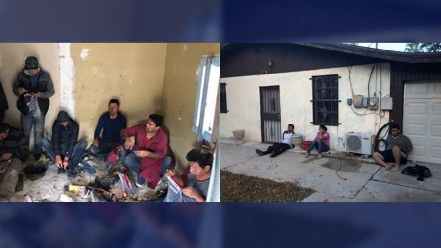 Patrulla Fronteriza detiene a 10 personas encontradas en casas de seguridad