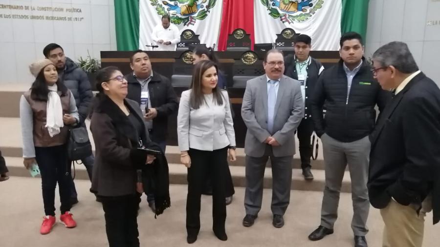 Diputada Ivette Bermea Invita periodistas de Matamoros a sesión en el congreso