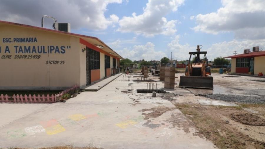 Aplica Gobierno de Matamoros más de 28 MDP en construcción de aulas y techumbres en 34 planteles