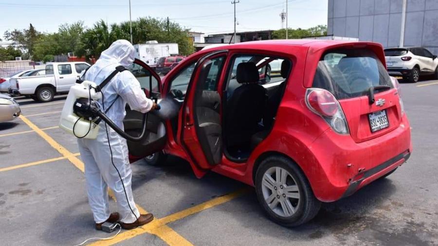 Invita DIF Reynosa a sanitizar vehículos