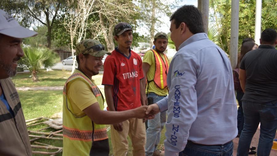 Refrenda alcalde todo el apoyo a la Villa de Nuevo Progreso