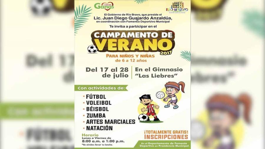 """Invita Ayuntamiento a """"Campamento de Verano  2017"""""""