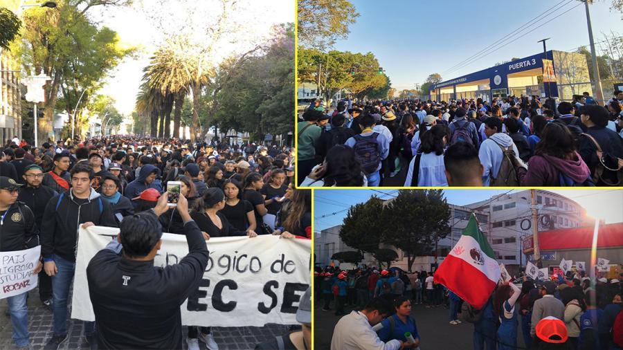 Mega marcha en Puebla; exigen justicia y seguridad