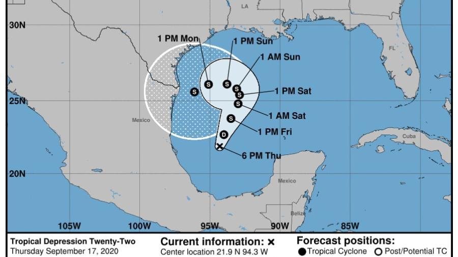 Tormenta tropical 22 generará lluvias en la costa y la frontera a partir del domingo