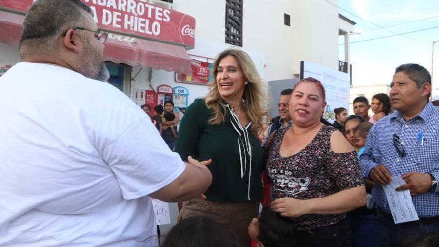Inaugura Alcaldesa 8 pavimentaciones por casi 42 MDP
