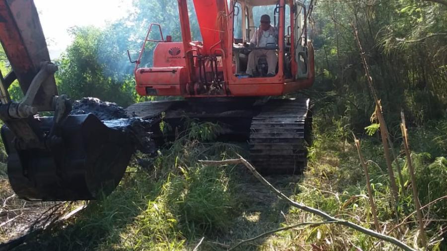 Desarrolla Municipio labores de limpieza continúa en drenes y canales