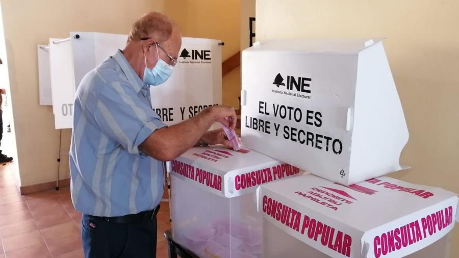 Con sesión permanente y la instalación del 98% de mesas receptoras se desarrolla la Consulta Popular 2021 en Matamoros