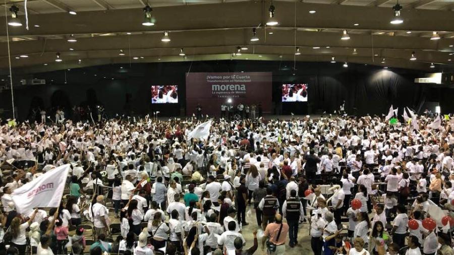 Da Yeidckol Polevnsky respaldo a candidatos de Morena en Matamoros