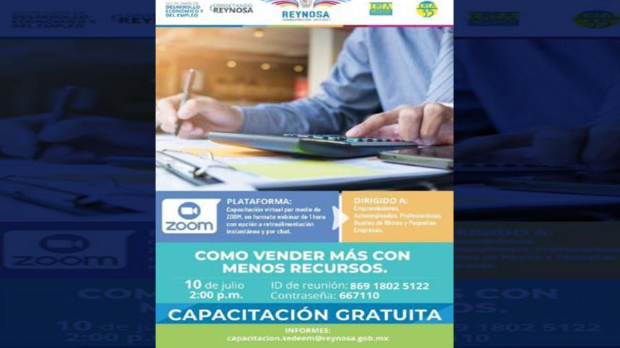 Invita Municipio a aprovechar capacitación comercial gratuita