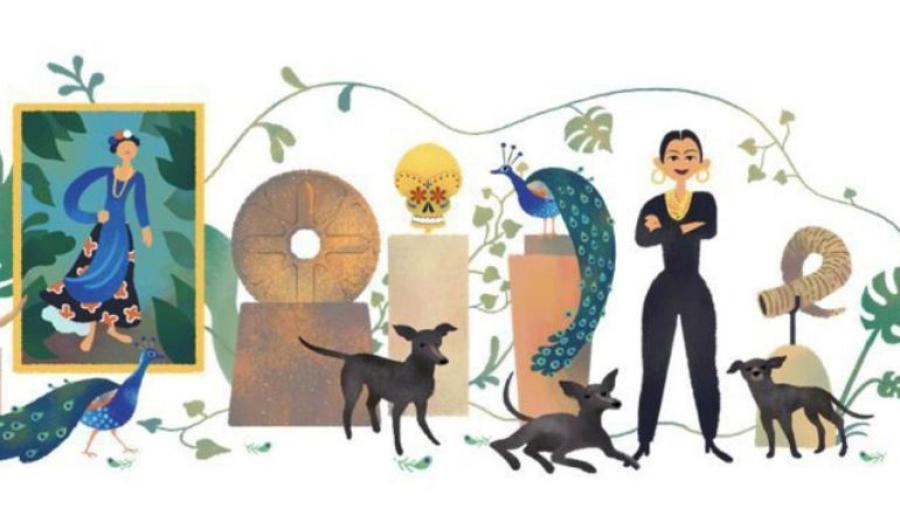 Google conmemora el 110 aniversario del nacimiento de Dolores Olmedo