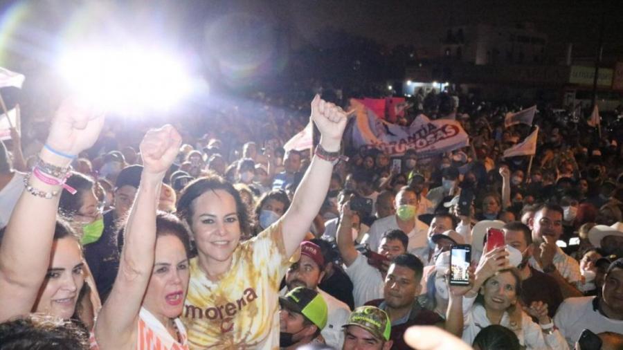 Carmen Lilia Cantú Rosas, de Morena se proyecta como virtual ganadora de la alcaldía de Nuevo Laredo