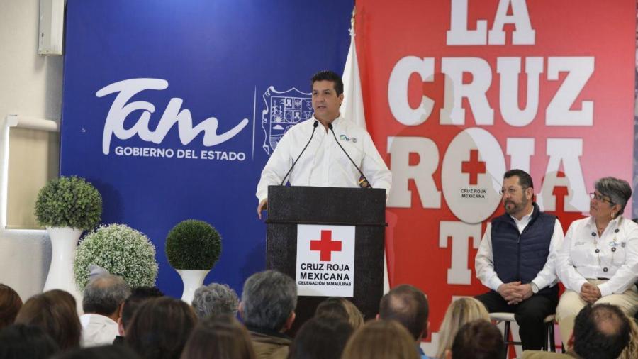 Dan banderazo a colecta de la Cruz Roja