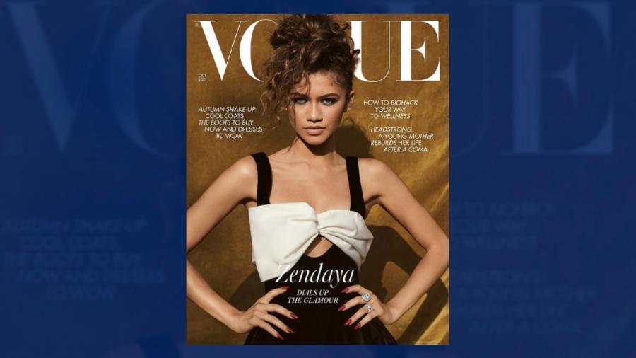 Llega Zendaya a la portada de Vogue para Octubre