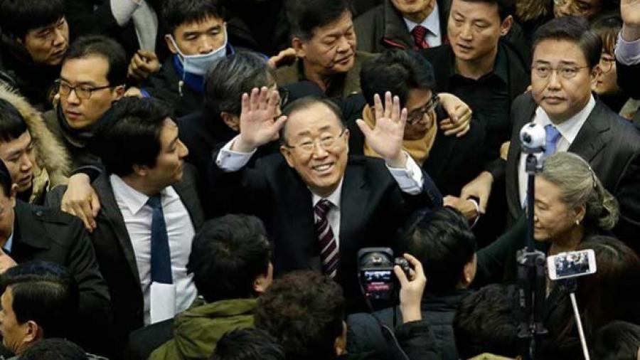 Ban Ki-moon, ex jefe de la ONU, quiere ser presidente de Corea del Sur