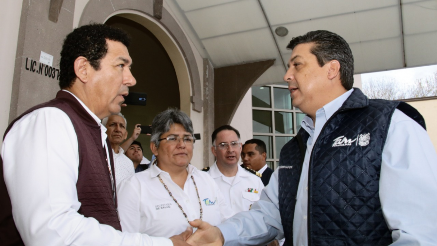 Pide Mario López apoyo al gobernador para concluir obras