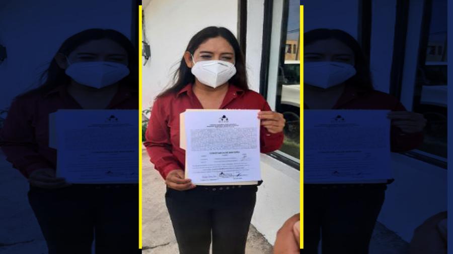 Recibe Gabriela Regalado constancia como diputada electa del Distrito 1 de Nuevo Laredo