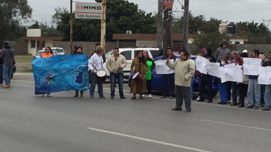 Protestan en Altamira por gasolinazo