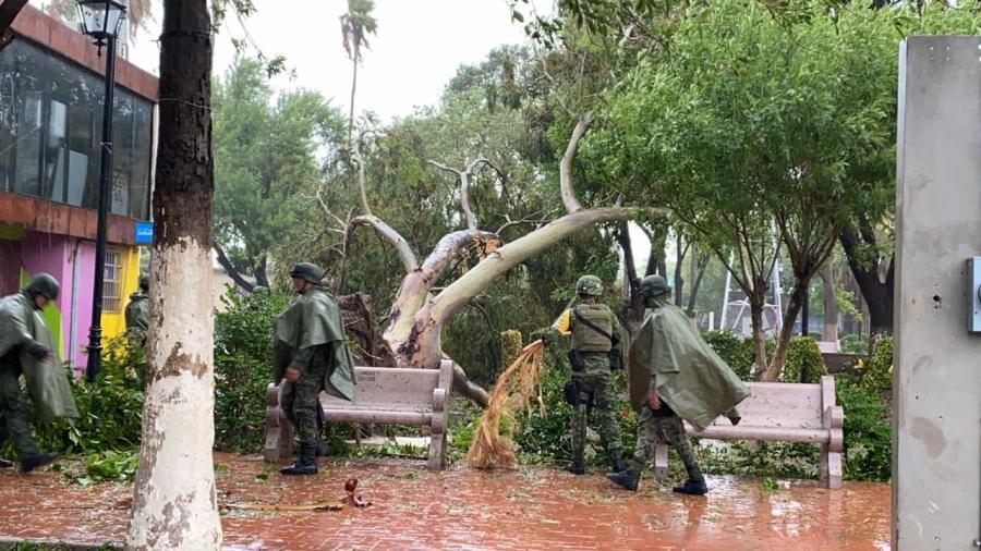 Despliegan 203 militares por Hanna en DN-III en Reynosa