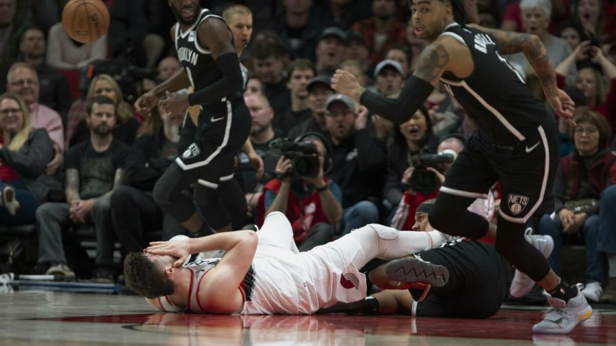 La grave lesión de Nurkic en la NBA
