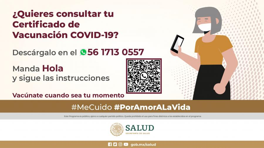 Consigue tu certificado de vacunación COVID-19 ¡Desde tu WhatsApp!