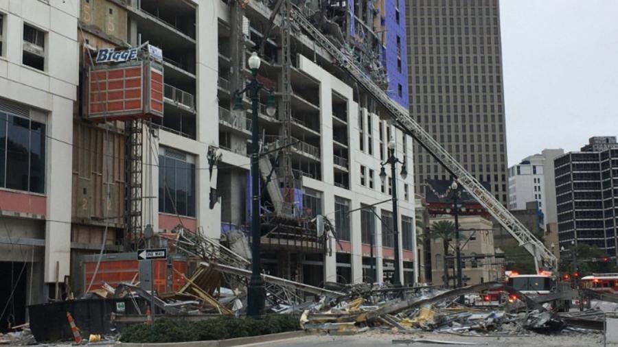 Colapsa parte de un hotel en Nueva Orleans