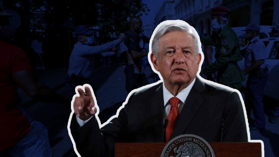 Pide AMLO no intervención de otros gobiernos en conflicto de Cuba; ofrecerá México comida, medicamentos y vacunas