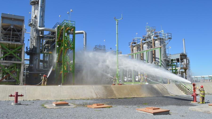PEMEX realiza simulacro de emergencia química