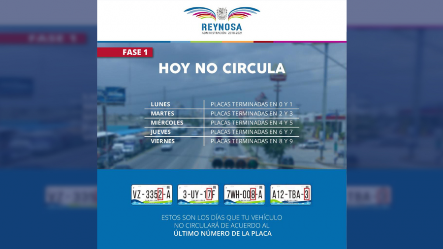 Lunes no Circulan autos con placas terminales en 0 y 1