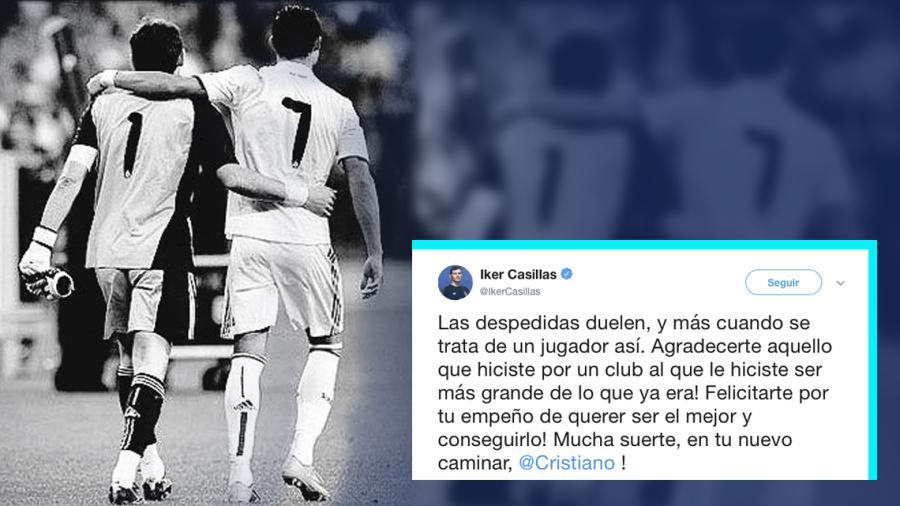 El mensaje de despedida de Casillas a Ronaldo