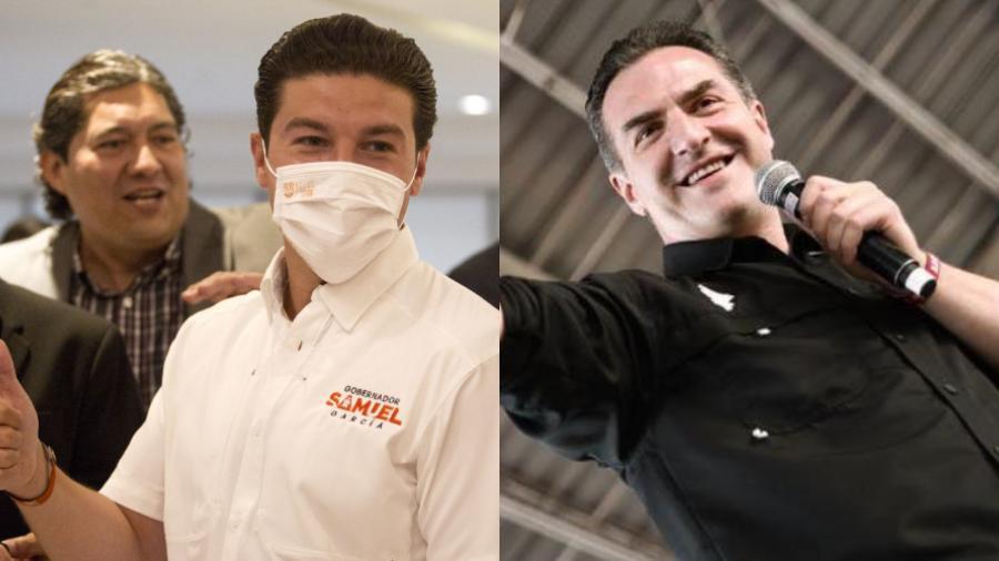 Samuel García y Adrián de la Garza se proclaman ganadores a la gubernatura de N.L.