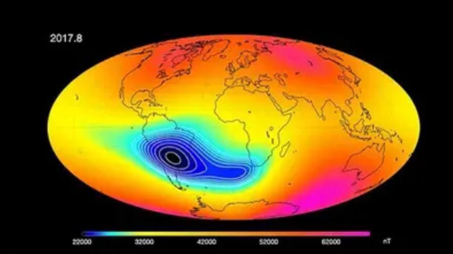 Posible inversión de polos debilita el campo magnético de la Tierra