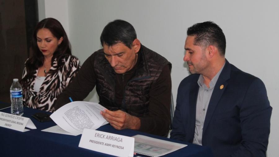 AMPI y Regina Energy firman convenio